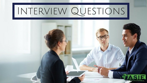 Ten Most Common Interview Questions - ASIE Personnel