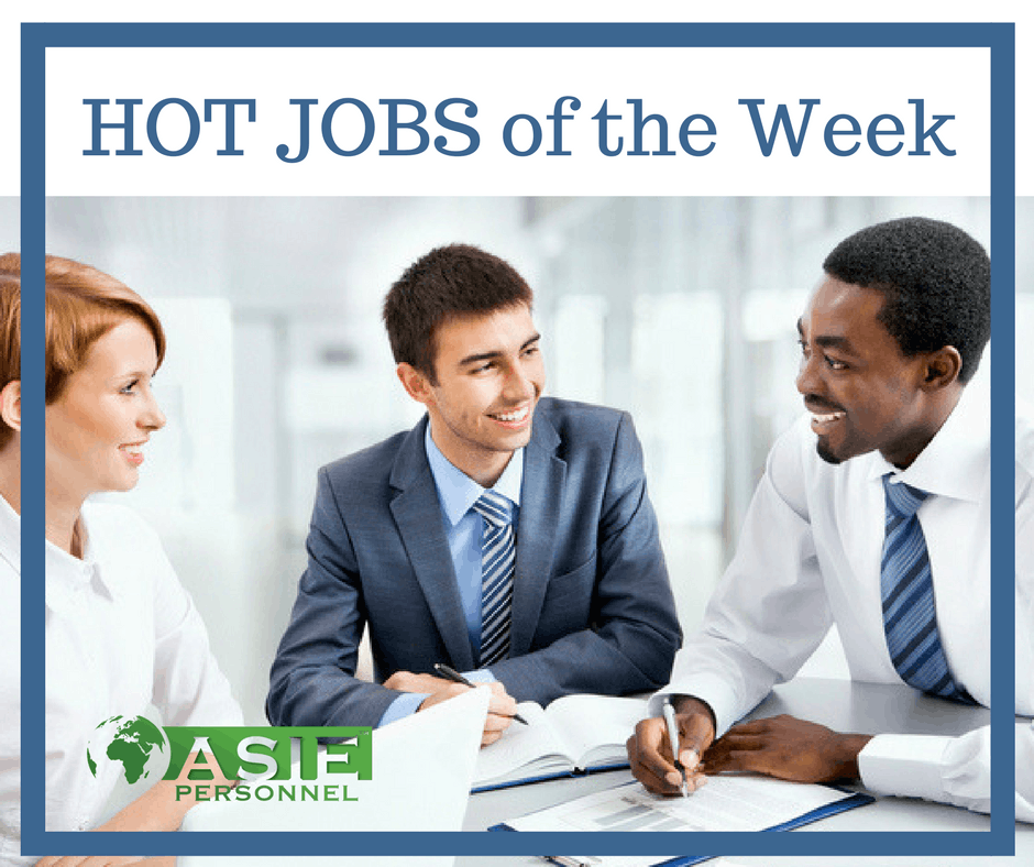 Hot Jobs Of The Week 17 January 2017 Asie Personnel