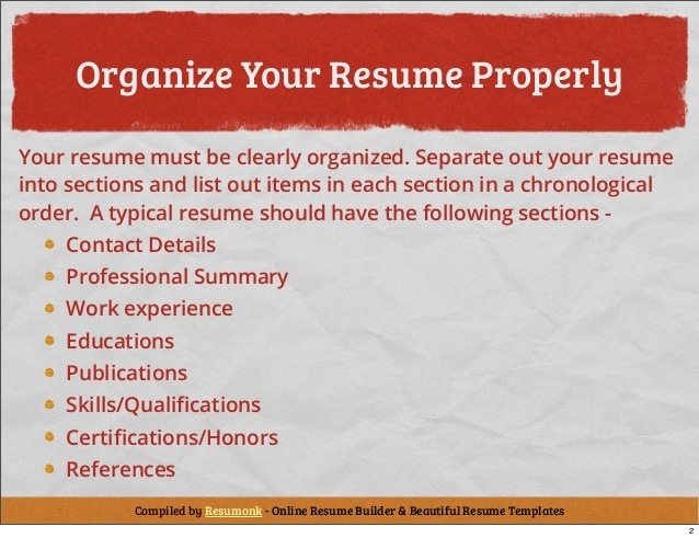 cvtips organise your resume properly asie personnel