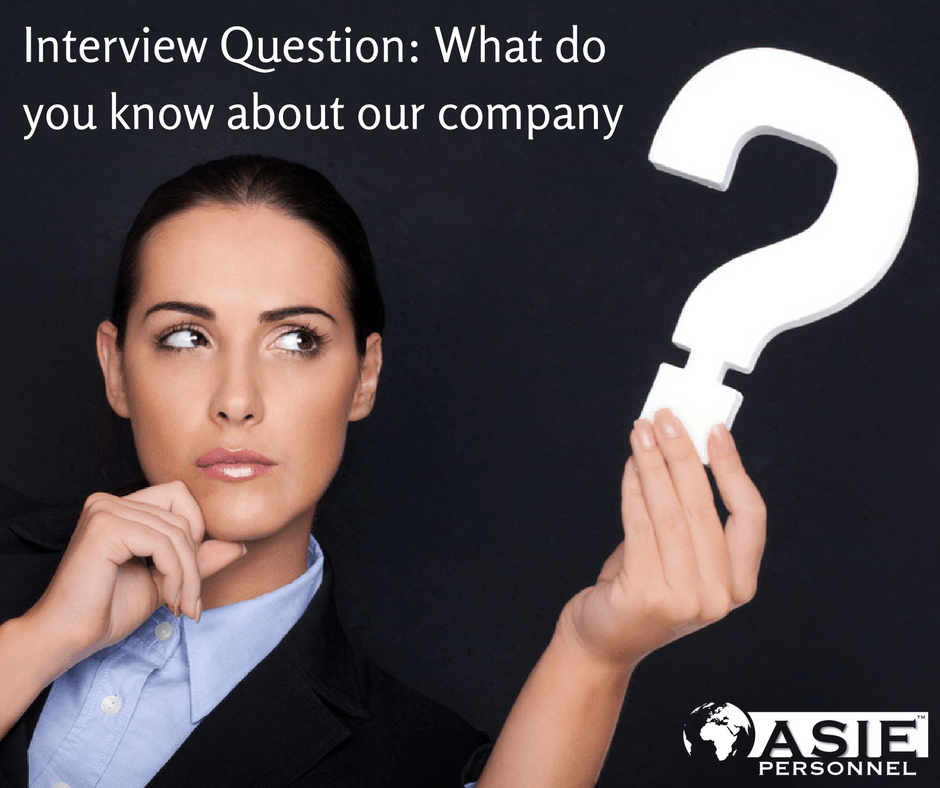 Interview Question: What Do You Know About Our Company?